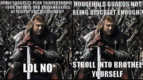 The Game Internet Meme - the best game of thrones internet meme yet stupid ned stark