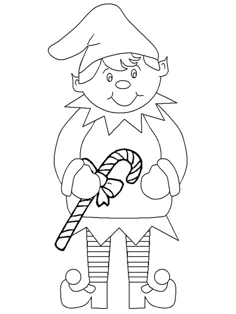 Christmas Elf Coloring Pages Printable Free Elves Coloring Pages
