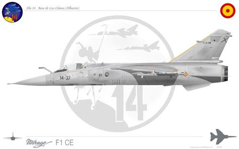 aces of the legion 1849083479 mirage f1 ce ala 14 base de los llanos albacete espa 241 a aviation art image