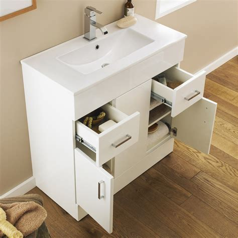 Turin Vanity Sink With Cabinet   800mm Modern High Gloss