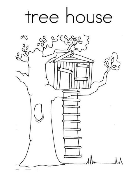 coloring sheet tree house treehouse coloring page for kids color luna quilt