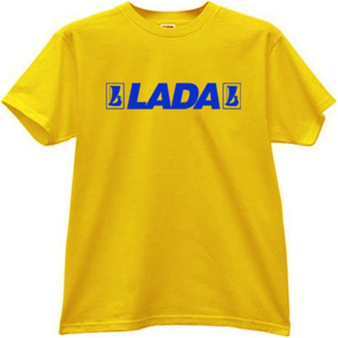 Lada Clothing Lada Russian Car With Logo T Shirt In Yellow Auto