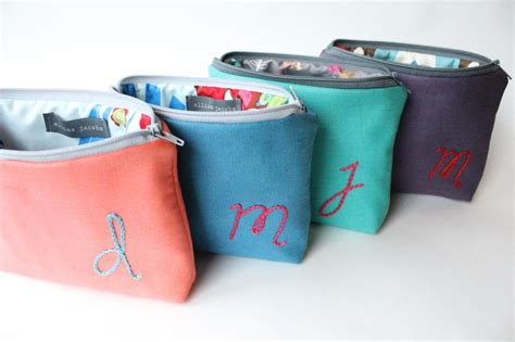 Personalized Pouch monogram cosmetic bags personalized bridesmaid by allisajacobs