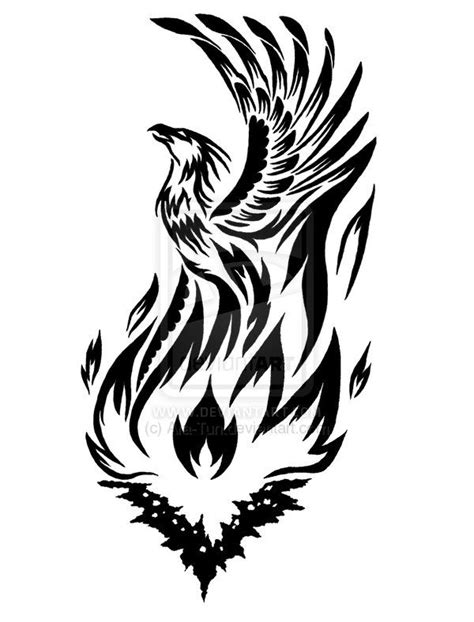 black and white phoenix tattoo designs 25 best ideas about tribal on