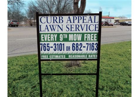 curb appeal signs yard signs design
