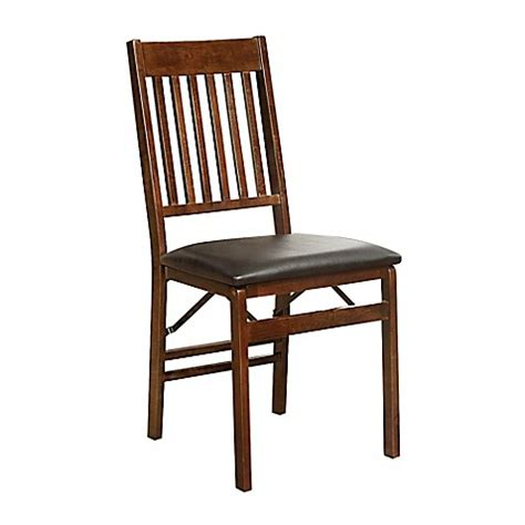 bed bath beyond chairs mission back wood folding chair in walnut bed bath beyond