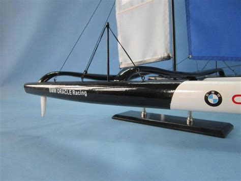 buy wooden bmw oracle trimaran limited model yacht 30 inch