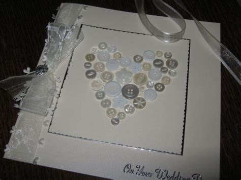 Handmade Luxury Cards - luxury handmade wedding card button windrush