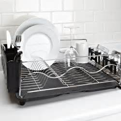ksp wave dish rack black kitchen stuff plus