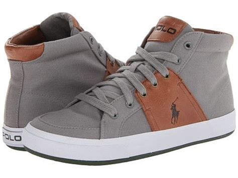 Gray Canvas Fino Shoes Ba 125 ralph high tops and polos on