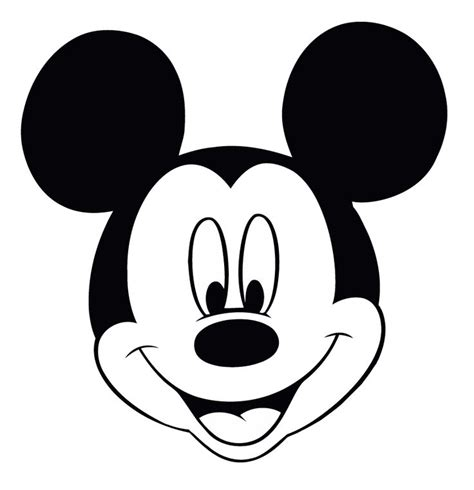disney coloring page mickey mouse head drawing and