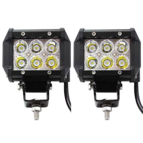 cree led offroad lights 2x 18w cree 6 led work light bar spot offroad l truck
