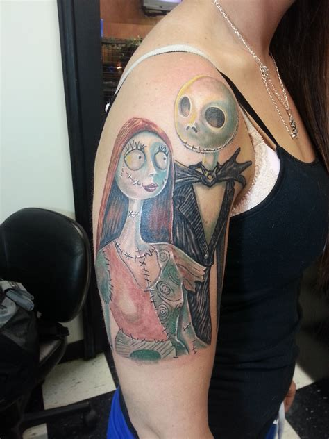 jack the pumpkin king tattoo designs nightmare before and sally color