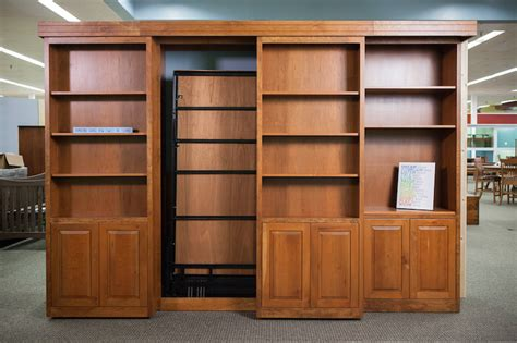 sliding bookcase murphy bed haus custom furniture