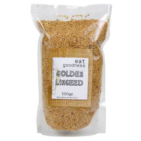 Golden Flaxseed 500 Gr eat goodness linseed flax seed golden 500g by eat goodness