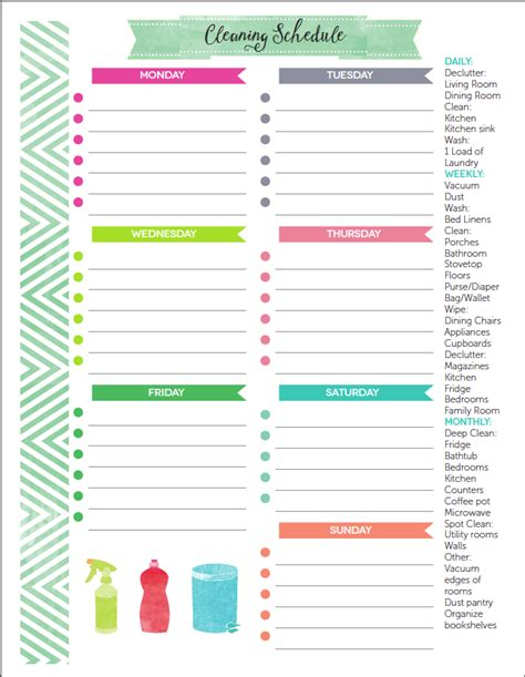 create a printable daily schedule how to create a home management binder free printable