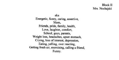 bio poem template for high school bio poem exles high school teaching