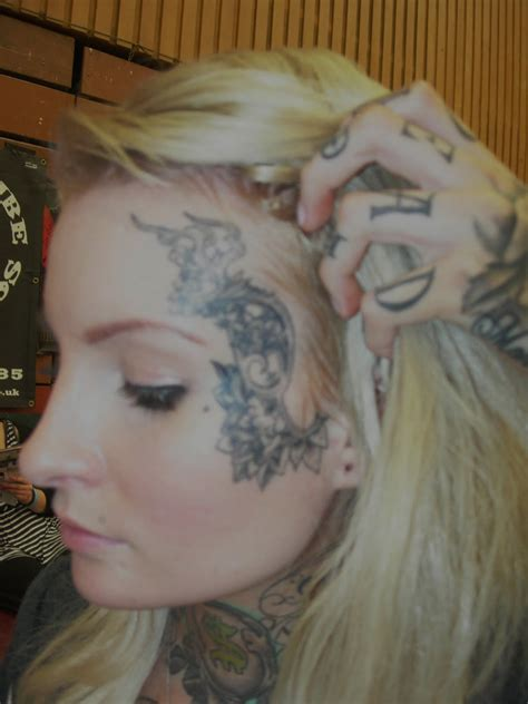 female face tattoo the tattooed toff may 2011