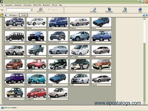 Suzuki Spare Parts Catalogue Suzuki Worldwide Automotive Epc 2011 Spare Parts Catalog