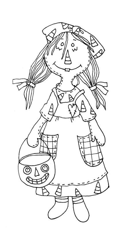 dearie dolls digi stamps primitive halloween raggedy