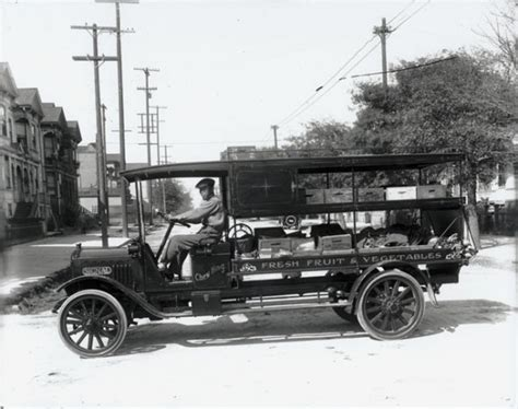 h s fruit truck drives a signal delivery truck for the company
