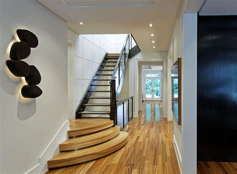 hallway stairs lighting contemporary house in ahmedabad entrance hall contemporary hall toronto by douglas