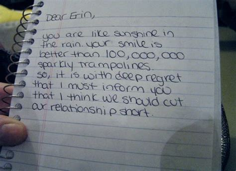 up letter hilarious sarcastic quotes about breaking up quotesgram
