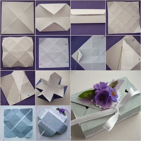 Diy Origami Box - diy origami gift box without glue paper crafts