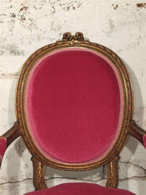 fuschia armchair decadent louis xvi giltwood armchair in fuschia velvet at 1stdibs