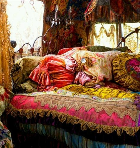 gypsy bedding comfy hippie bed dream room pinterest beautiful