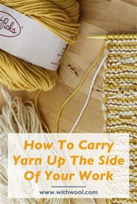 knitting stripes in the carrying yarn stripes and carrying yarn up the side crochet and knit