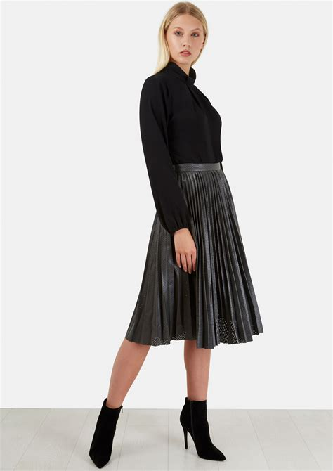 compare grey punch textured midi skirt deals s