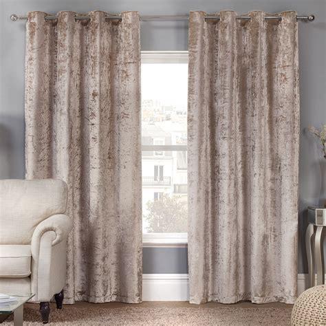 velvet eyelet curtains elegance allure natural crushed velvet luxury eyelet