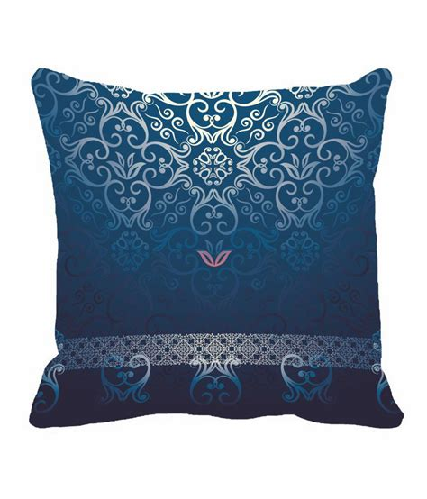 blue pattern cushion stylencomfort blue pattern digitally printed cushion cover