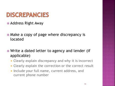 Explanation Letter About Discrepancy Hhm Finance Credit Rebuilding