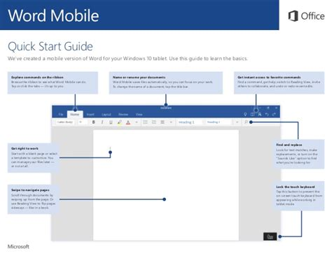 Microsoft Office Word Mobile Microsoft Word Mobile Start Guide