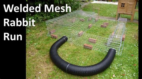 Design Your Own Home To Build by Building A Wire Mesh Rabbit Run Youtube