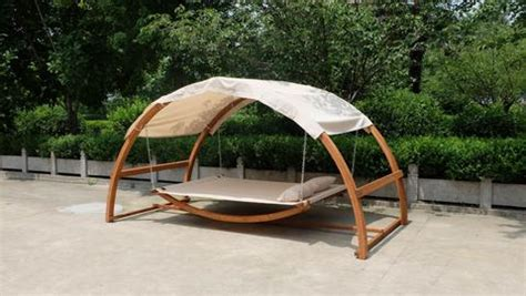 Outdoor Covered Hammock Bed Porch Swing Hammock Bed Patio Furniture Hanging Canopy