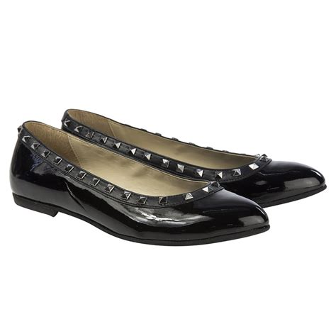 black ballerina shoes step2wo black patent ballerina shoes with silver