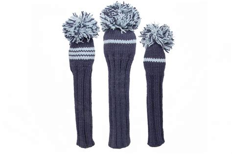 Classic Knit Golf Headcover Set Knitted Golf Headcover