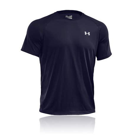 Tshirt Kaos Dynafit Live Fast armour tech mens navy blue breathable sleeve