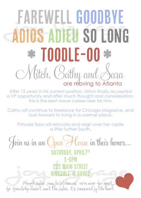 farewell party invitation wording template best template