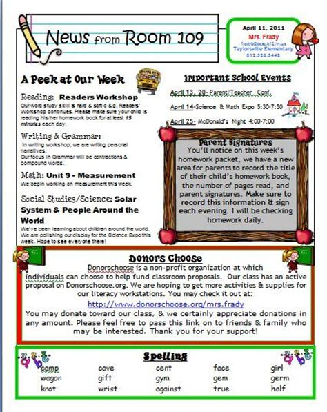 class newsletter template free free kindergarten templates downloads and