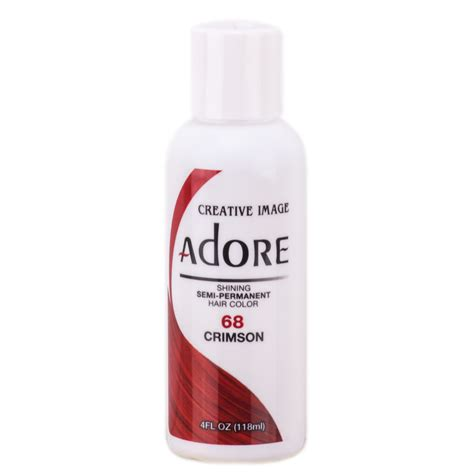 adore semi permanent hair color adore shining semi permanent hair color 68 crimson