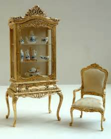 gold leaf covered miniature dollhouse furniture this is