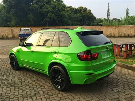 green bmw x5 bmw x5m gets gloss green wrap in south africa
