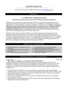 Senior Management Resume Templates by Top Executive Resume Templates Sles