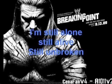 theme music unbroken wwe breaking point 2009 official theme song lyrics youtube