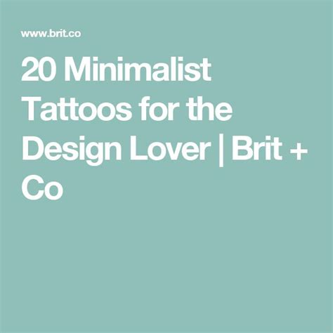 20 Minimalist Tattoos For The Design Lover Brit Co | tiny tattoo idea 20 minimalist tattoos for the design