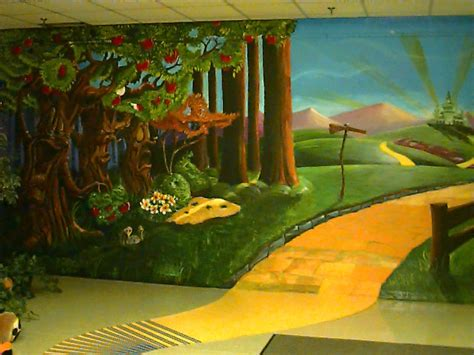 wizard of oz wall mural oz page
